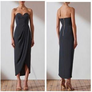 Shona Joy U Wire Bustier Dress sz US 6 AUS10 Charcoal Gray